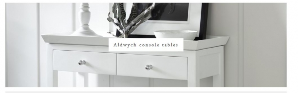 Aldwych Console Table - Snow